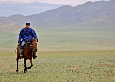 Rider in Mongolia,