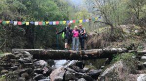 womens green trekking Napal