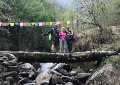 womens green trekking Napal